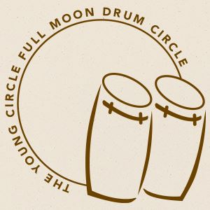 Young Circle Full Moon Drum Circle